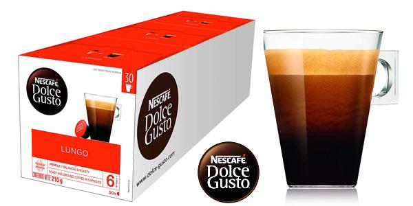 Pack x90 Cápsulas Nescafé Dolce Gusto Magnum Café Lungo chollo en Amazon
