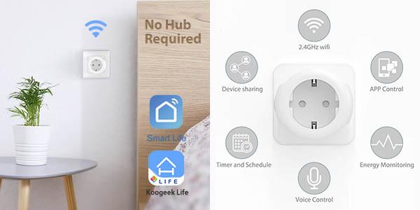 Pack 2 x Enchufe WiFi Koogeek Mini Smart Plug en Amazon