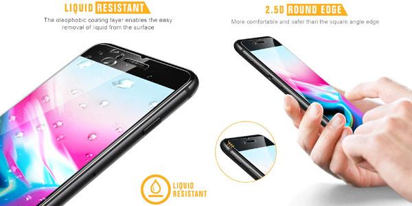 Pack x4 protectores de pantalla Sparin de cristal templado para iPhone 6/6s/7/8 con guía chollazo en Amazon