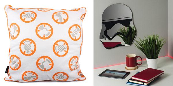 Pack Star Wars cojín BB-8 + espejo Stormtrooper + Luminart 3D chollo en Zavvi