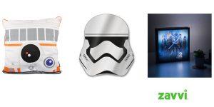 Pack Star Wars cojín BB-8 + espejo Stormtrooper + Luminart 3D barato en Zavvi