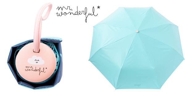 Paraguas mediano Mr. Wonderful con estampado interior chollazo en Amazon
