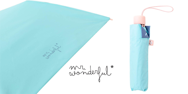 Paraguas mediano Mr. Wonderful con estampado interior chollo en Amazon