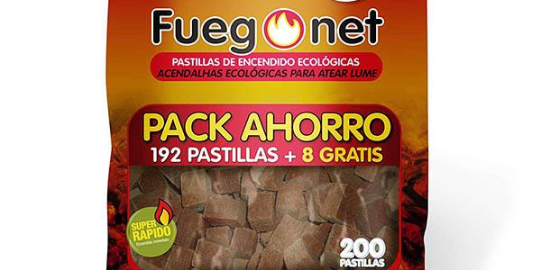 pastillas de encendido para barbacoa ecológicas Fuegonet chollo