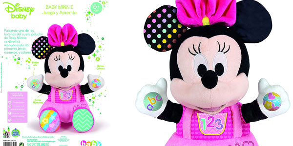 Peluche Disney Baby Minnie (Clementoni 55325) chollazo en Amazon