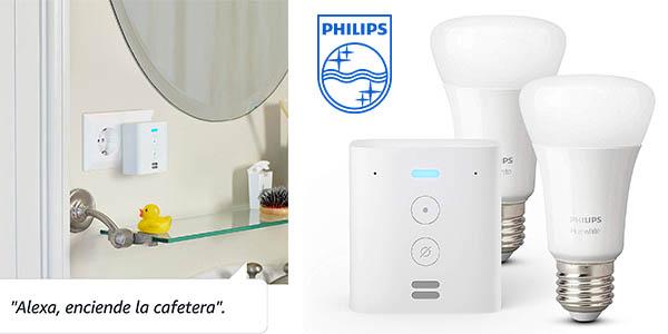 Philips Hue White Echo Flex bombillas inteligentes chollo
