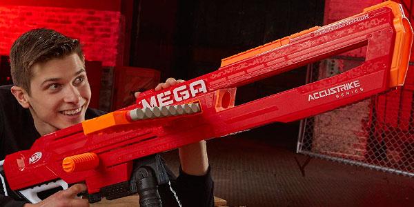 Pistola de dardos Nerf Mega Thunderhawk extensible en oferta