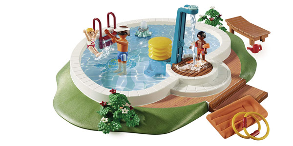 Playmobil Family Fun Piscina con Bomba de Agua para la Ducha chollo en Amazon