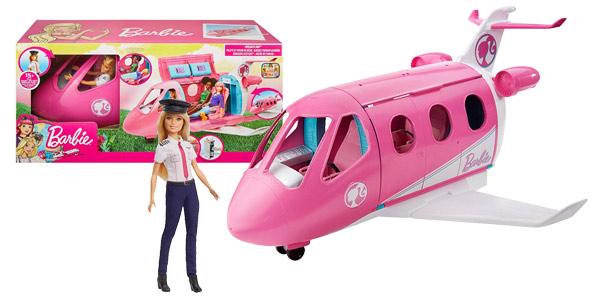 Set Avión de tus Sueños Barbie + Muñeca (Mattel GBJ33) barato en Amazon