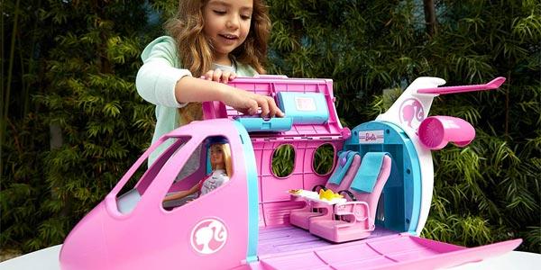 Set Avión de tus Sueños Barbie + Muñeca (Mattel GBJ33) chollo en Amazon