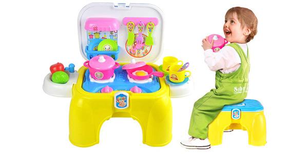 Playset taburete y Cocinita de Juguete 2-en-1 deAO barato en Amazon