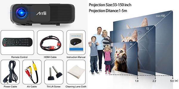 proyector de vídeo Artlii relación calidad-precio estupenda