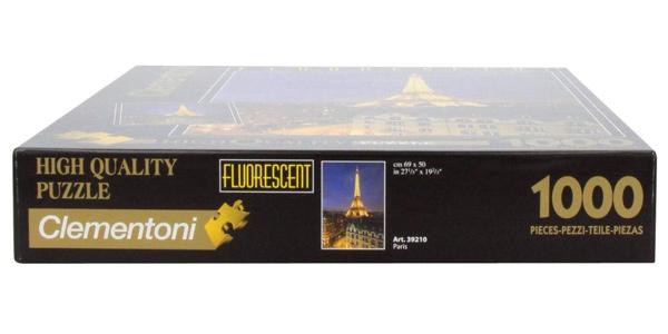 Puzle de 1.000 piezas Clementoni París Fluorescent Collection (392100) chollo en Amazon