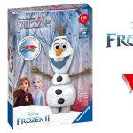 Puzle 3D Olaf Frozen 2 Ravensburger 11157 barato en Amazon