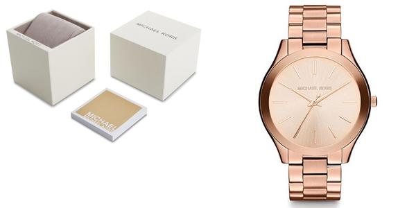 Reloj de mujer Michael Kors MK3197 Runway oro rosa barato en Amazon