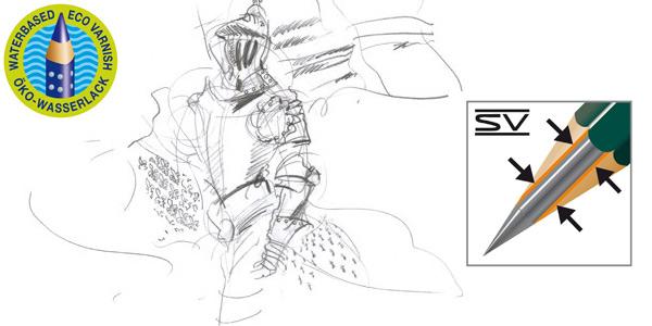 Set de 12 lápices Faber Castell 9000 para dibujo artístico chollo en Amazon