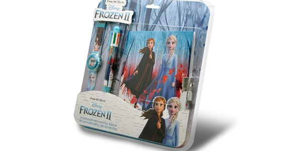 Set Frozen2 de Reloj Digital + Set de Papelería barato en Amazon