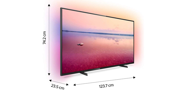 "Smart TV Philips 55PUS6704/12 UHD 4K de 55"" HDR Ambilight 3 chollazo en Amazon"