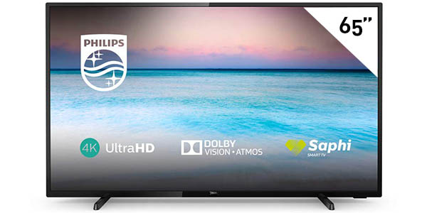 "Smart TV Philips 65PUS6504/12 UHD 4K de 65"" HDR"