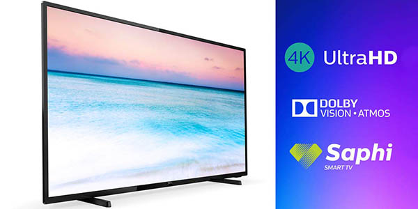 "Smart TV Philips 65PUS6504/12 UHD 4K de 65"" HDR en Amazon"