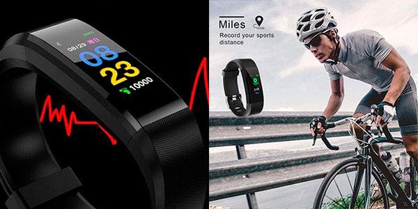 Smartband pioleUK con Bluetooth y sensor de frecuencia cardíaca barato