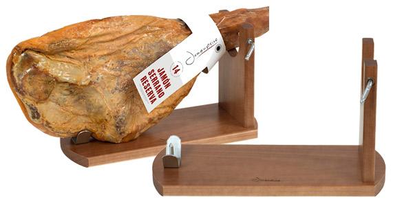 Soporte Jamonero de madera estilo Banqueta barato en Amazon