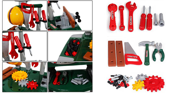 Taller Mecánico deAO con herramientas y accesorios de bricolaje de Juguete chollo en Amazon