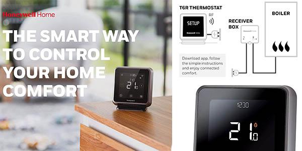 termostato inteligente de primera gama Honeywell oferta