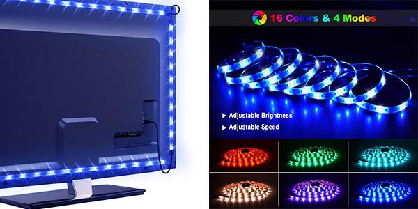tira de luces RGB LED Omeril para el televisor relación calidad-precio estupenda