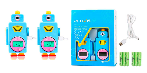 Walkie Talkie infantil Retevis Rt36 barato en Amazon