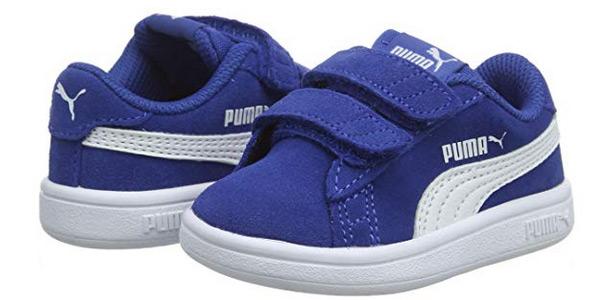 Zapatillas deportivas PUMA Smash V2 SD V Inf para niños baratas en Amazon