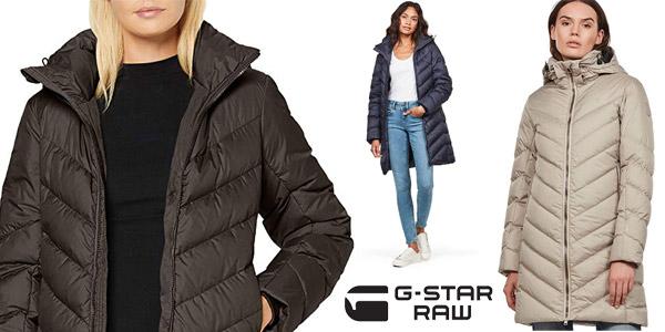 Abrigo largo G-STAR RAW Whistler Slim Down para mujer barato en Amazon