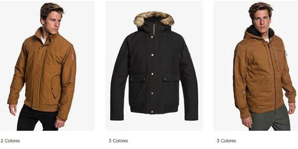 abrigos y chaquetas para hombre Quiksilver promoción descuento