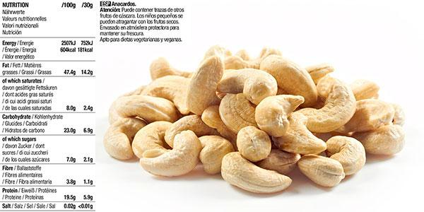 Paquete de anacardos enteros Happy Belly de 500 g baratos