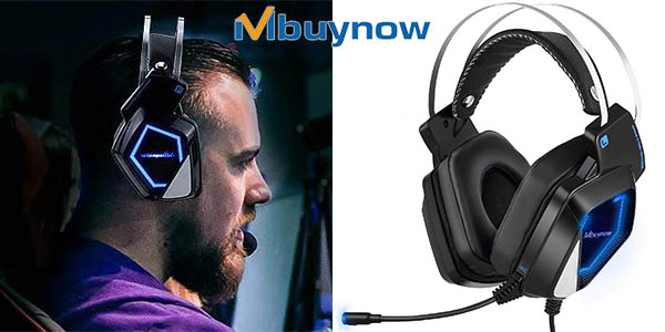 Auriculares gaming Mbuynow para PS4, PC, Xbox One o Switch