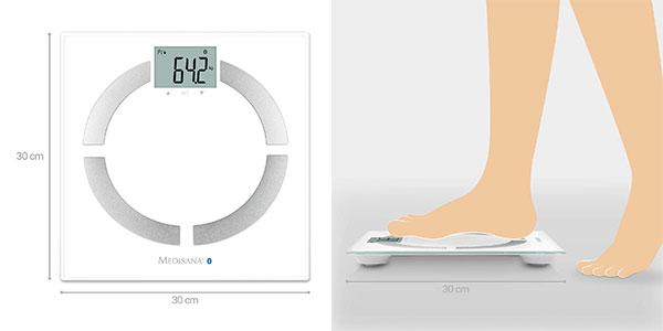 Báscula digital Medisana BS 444 Connect con análisis corporal barata