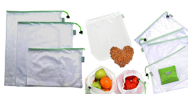 Set de 9 Bolsas de Malla Reutilizables RYBit +1 Bolsa de Leche Vegetal Nueces +1 Bolsa Compra Plegable chollo en Amazon