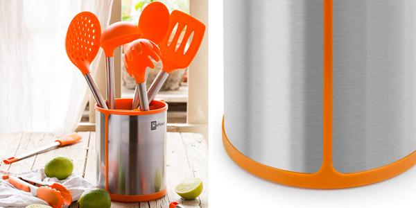 Bote giratorio para utensilios de cocina BRA Efficient chollo en Amazon