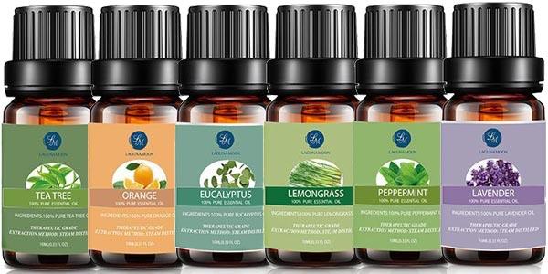 Set x6 Aceites Esenciales Lagunamoon para aromaterapia chollazo en Amazon