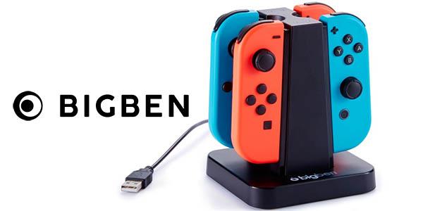 Base de carga Big Ben para 4 Joy-con de Nintendo Switch