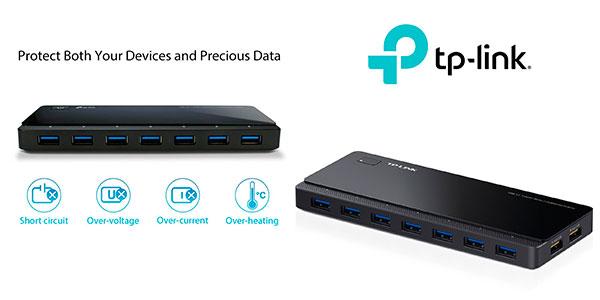 Chollo Hub TP-Link UH720 de 7 puertos USB 3.0 + 2 puertos de carga exclusiva 2.4 A