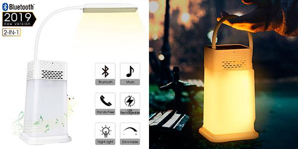 Lámpara LED de escritorio AGM con altavoz Bluetooth, reproductor MP3 y manos libres barata