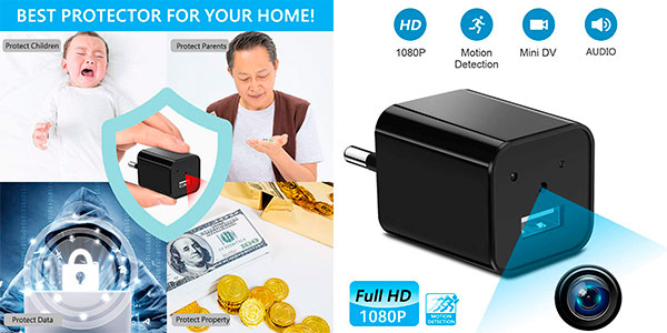 Chollo Mini Cámara espía Supoggy Full HD con detector de movimiento