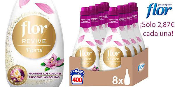 Chollo Pack de botellas Suavizante Flor Revive Floral de 1.200 ml