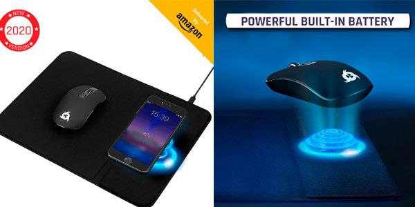 Combo Klim Inspiration + Makepad, pack de alfombrilla con carga inalámbrica + ratón inalámbrico barato en Amazon