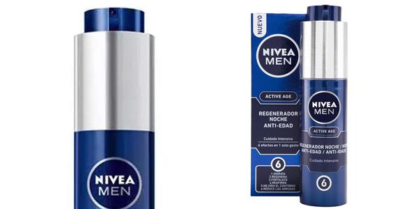 Crema de noche Regeneradora Anti-Edad NIVEA MEN Active Age de 50 ml barata en Amazon