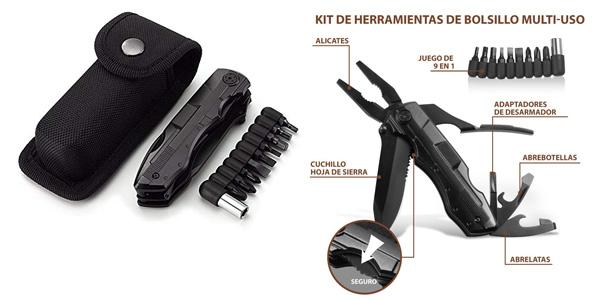 Cuchillo ORSIFOW con kit de herramientas multiuso chollazo en Amazon
