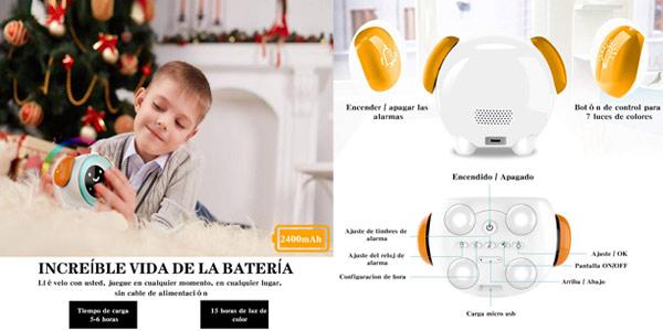 Despertador infantil chollo en Amazon
