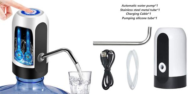 Dispensador de agua electrónico Yomym recargable por USB barato en Amazon