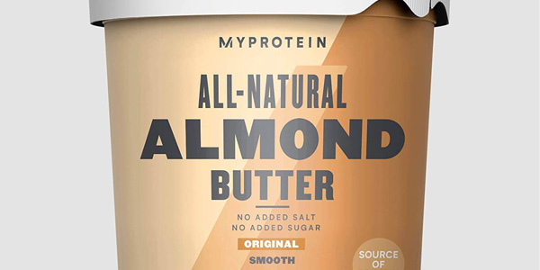 Envase Myprotein Natural Almond Butter de 1000g chollo en Amazon